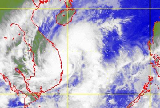Ảnh vệ tinh lúc 17h 29/11, vùng mây bão đã bao trùm lên ven biển Nam Trung Bộ. Ảnh:HKO. Hồi 17h ngày 29/11, tâm bão trên vùng biển Bình Định – Phú Yên. Sức gió mạnh nhất ở vùng gần tâm bão đạt cấp 8 (62-74 km/h).