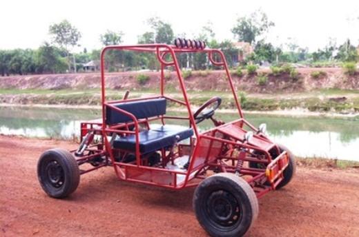 Xe off-road tự chế độc đáo tại Tây Ninh.