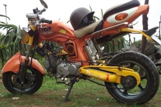 Harley chế từ Honda 67 tại Việt Nam.