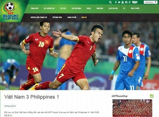 Trang chủ AFF Suzuki Cup đưa thông tin về trận đấu tối qua