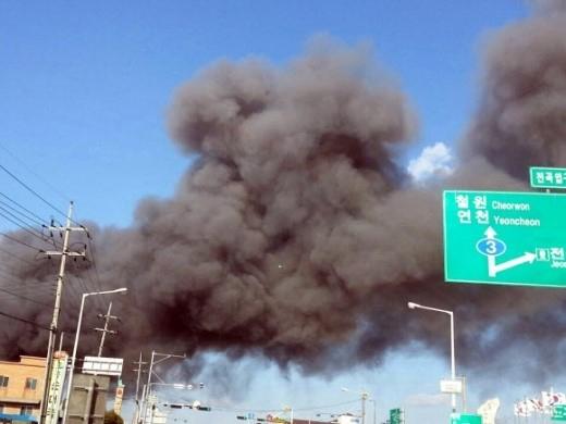 Phim trường của Oh Ji Ho cháy lớn, một nhân viên tử vong