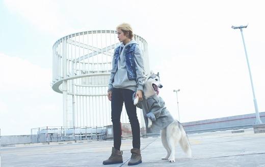 Siêu ngầu với bộ đôi phong cách Gil Lê và cún cưng Mocha