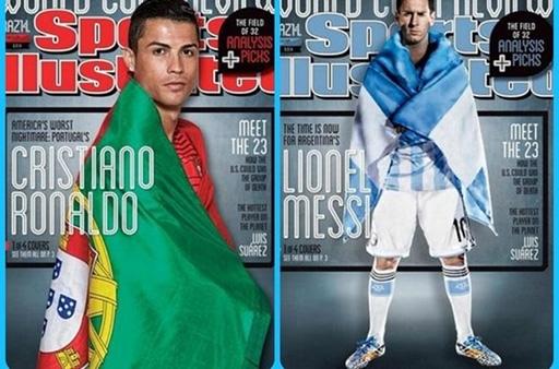 Ronaldo (trái) được tìm kiếm trên Google nhiều hơn Messi