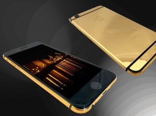 Chiếc iPhone 6 mạ vàng 24K này của Goldstriker có giá khoảng 4.700 USD.