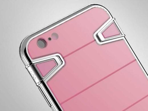 Hoặc phiên bản vỏ bảo vệ bằng thép không gỉ và sapphire hồng này. Giá của nó là 2.200 USD.