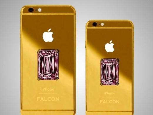 Các hãng chế tác sẵn sàng đáp ứng mọi yêu cầu từ các thượng đế. Falcon Luxury đã cho ra mắt chiếc iPhone 6 Plus làm bằng vàng 18K, đính một viên kim cương hồng ở mặt sau với giá 110,5 triệu USD. Chiếc iPhone này đi kèm một gói bảo hành cực kỳ xa xỉ.