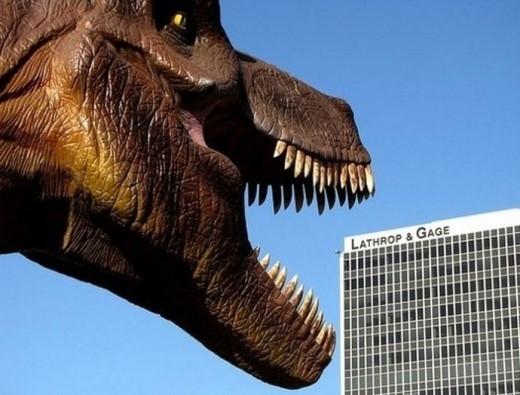 Thật khủng khiếp khi khủng long bạo chúa xuất hiện tàn phá thành phố