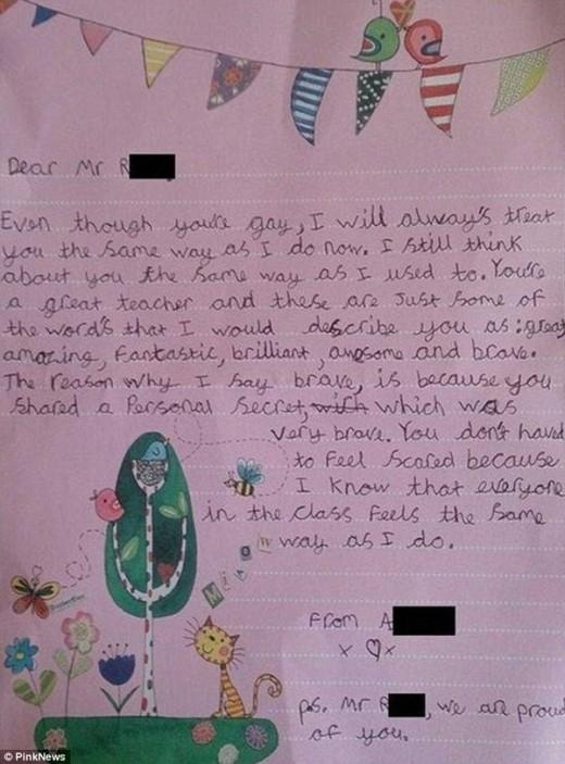 Bức thu của cô bé 9 tuổi gửi thầy giáo