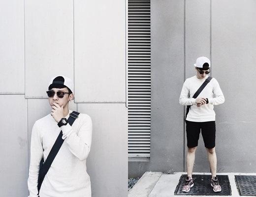 Anh bạn Thiều Quang cực kool với áo len ấm áp và snapback làm điểm nhấn