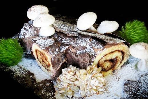 Bánh khúc cây nấm tuyệt đẹp cho mùa Noel