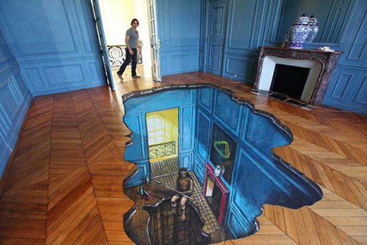 Một hố sâu ngay giữa sàn nhà?