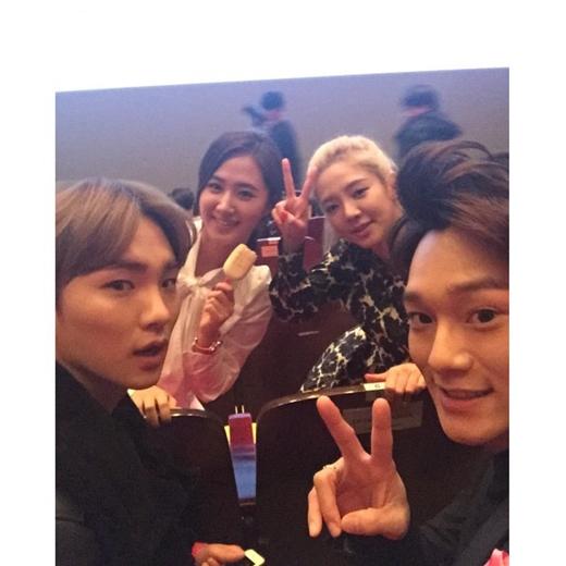Hyoyeon, Yuri, Key và Chen