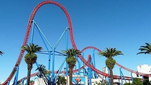 9. Goliath - Bang California, Mỹ: Tốc độ nhanh nhất: 136,7km/h, khoảng cách lao dốc dài nhất: 77,7m. Tàu lượn xếp thứ 9 về tốc độ, thứ 7 về độ cao, thứ 3 về khoảng cách lao dốc.
