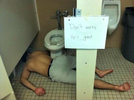 Khi say xỉn thì nhà vệ sinh cũng thành phòng ngủ