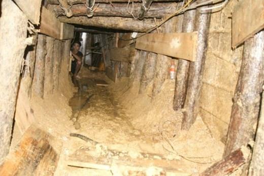 Toàn cảnh đường hầm do lực lượng Công binh thực hiện.