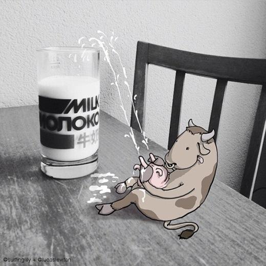 Phải chăng ly sữa ta uống đều được vắt thế này?