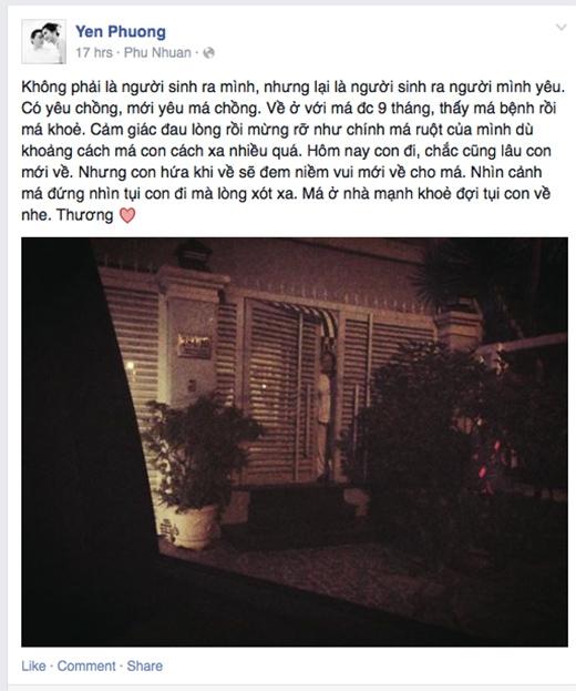 Dòng chia sẻ đầy xúc động của bà xã Lam Trường - Tin sao Viet - Tin tuc sao Viet - Scandal sao Viet - Tin tuc cua Sao - Tin cua Sao