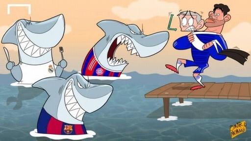 Các đối thủ đáng sợ nhất của HLV Mourinho tại Champions League mùa này là Barca, Bayern và Real.