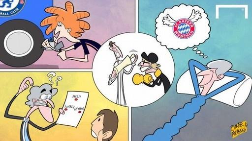 PSG, Man City, Dortmund tìm cách ứng phó với đối thủ tại vòng 1/8 Champions League. Trong khi HLV Wenger cao gối ngủ và mơ bay cao như Bayern Munich mùa 2012/13.