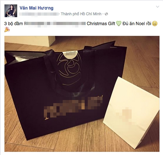 Văn Mai Hương cũng đã nhận được quà Giáng Sinh sớm từ bạn bè! - Tin sao Viet - Tin tuc sao Viet - Scandal sao Viet - Tin tuc cua Sao - Tin cua Sao