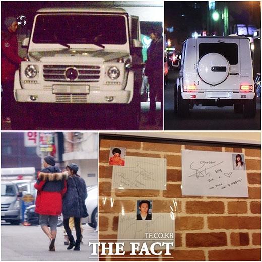 Một số hình ảnh hẹn hò của Park Han Byul và Jung Eun Woo bị The Fact bắt gặp