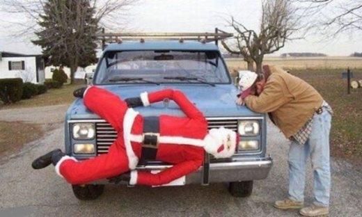 Trang trí xe theo không khí Giáng Sinh