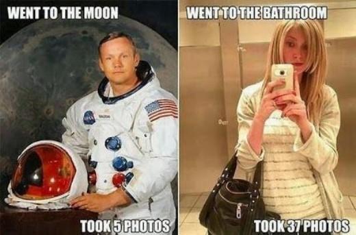 Chụp ảnh tự sướng trong nhà tắm đang trở thành trào lưu thời thượng của nhiều bạn trẻ hiện nay.
