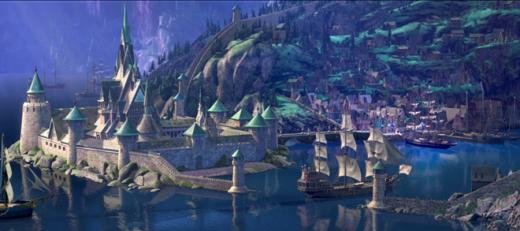Thánh phố trong phim Frozen.