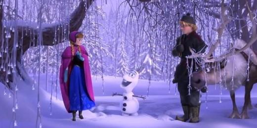 Khu rừng đóng băng tuyệt đẹp trong phim.