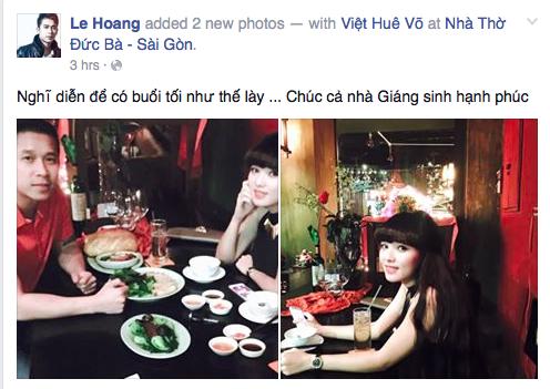 Lê Hoàng (The Men) nghỉ diễn để có thể dành trọn vẹn thời gian cho cô bạn gái xinh đẹp.