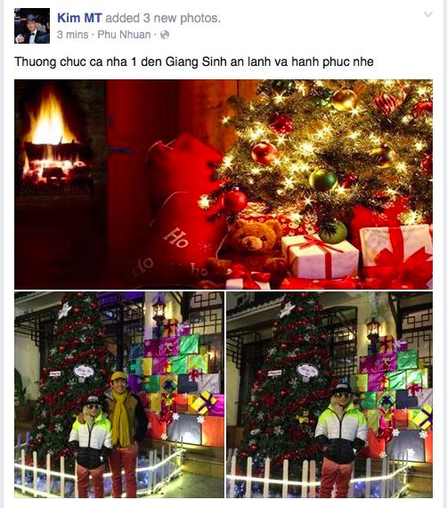 Minh Thuận cùng con trai nuôi đón một Giáng Sinh vô cùng ấm áp.