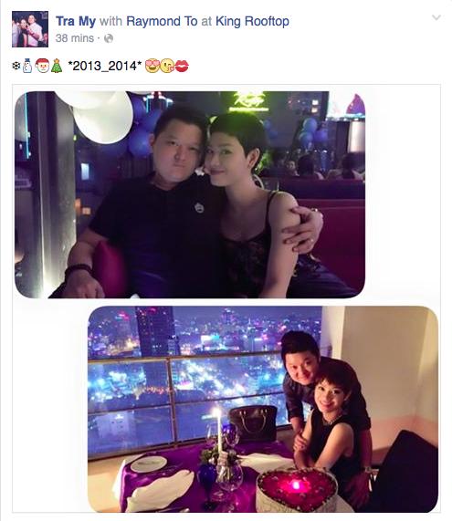 Hai vợ chồng Trà My Idol đón Noel đầy lãng mạn.