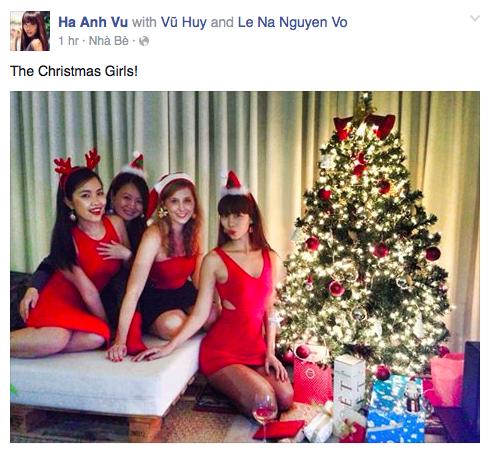 Siêu mẫu Hà Anh đã có 1 ngày lễ đáng nhớ bên những người bạn gái thân thiết
