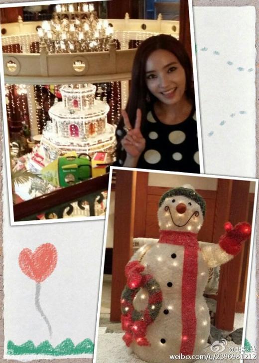Sao Hàn tưng bừng khoe hình mừng Giáng sinh