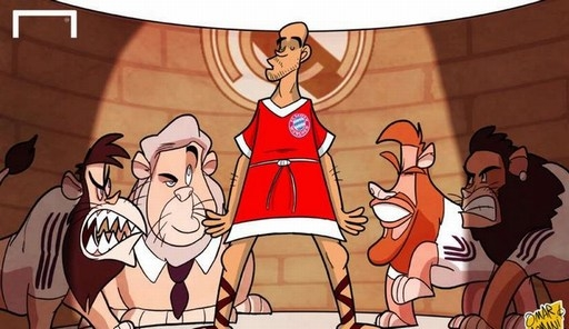 Pep Guardiola không thể làm gì trước bầy sư tử Real khi Bayern thua chung cuộc với tỷ số 0-5 ở bán kết Champions League.