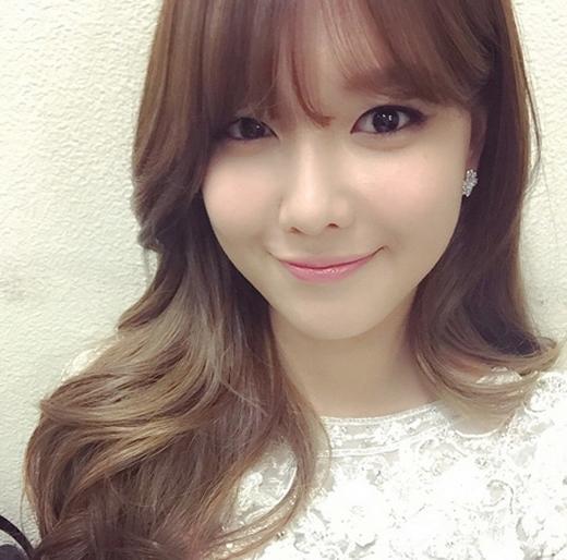 Sooyoung hào hứng khoe hình khi chuẩn bị màn trình diễn tại chương trình KBS Gayo Daejun 2014