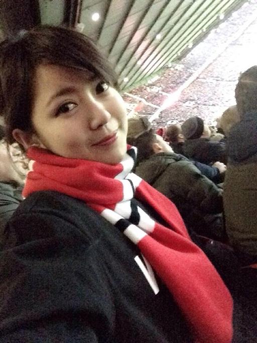 Hình ảnh của Tú Linh tại Old Trafford