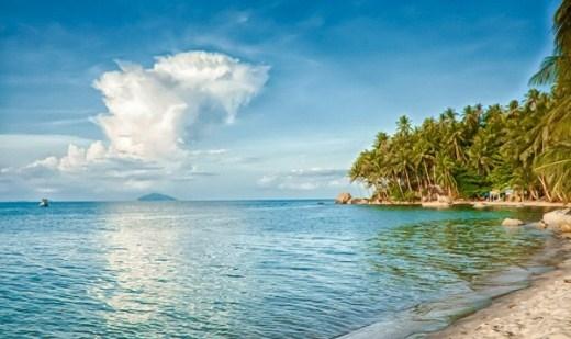 Quang cảnh tuyệt đẹp trên đảo Nam Du.