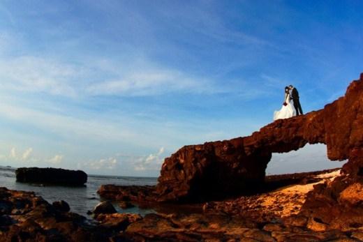 Những bộ ảnh cưới được chụp ở Lý Sơn.