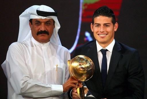 Trong khi một ngôi sao khác của sân Bernabeu là James Rodridguez cũng nhận giải Phát hiện của năm.