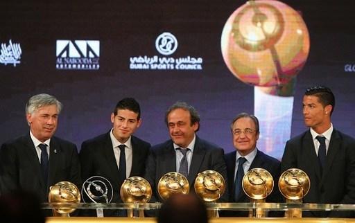 Real Madrid thâu tóm toàn bộ các danh hiệu tại lễ trao giải Globe Soccer Awards 2014.