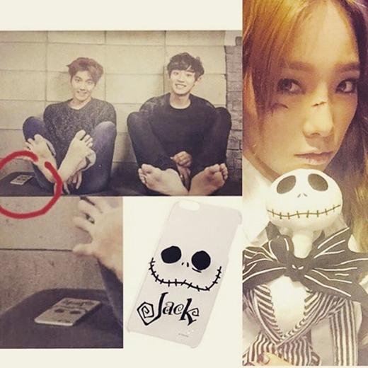 Baekhyun khiến fan nổi giận khi dùng vỏ điện thoại giống Taeyeon
