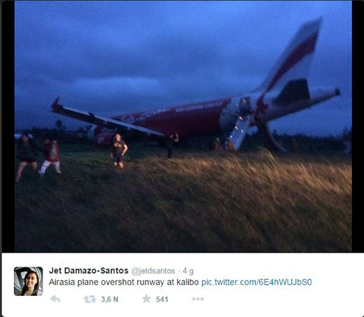Hình ảnh được đăng từ Twitter của nhà báo Jet Damazo-Santos