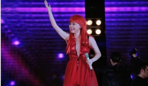Sắc đỏ rực rỡ từ mái tóc giả của Thanh Thảo hẳn là một kỷ niệm khó quên đối với ai đã từng xem cô trình diễn.