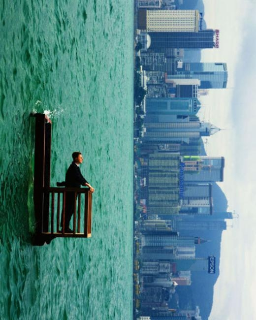 Bức ảnh không qua Photoshop của nhiếp ảnh gia người Pháp Philippe Ramette
