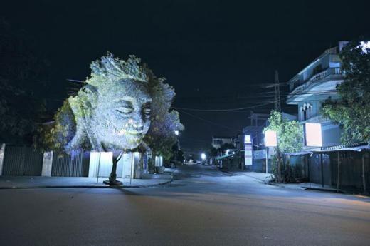 Dựng hình ảnh 3D trên một cái cây, ảnh của Clement Briend