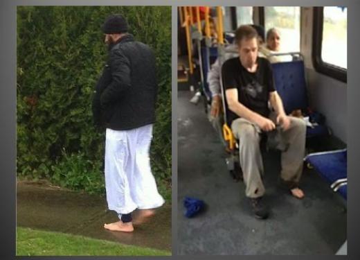 Một người tài xế xe bus đã trông thấy một người đàn ông không mang giày trên xe bus ở Surrey và một người đàn ông Hồi giáo quyết định thực hiện một cử chỉ đẹp thầm lặng là tặng đôi giày cho người vô gia cư này