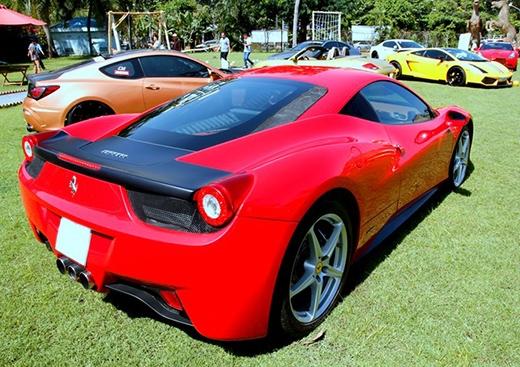 Ferrari 458 Italia là một trong những chiếc xe được thiếu gia Phan Thành thường xuyên sử dụng. Ảnh: Minh Anh. - Tin sao Viet - Tin tuc sao Viet - Scandal sao Viet - Tin tuc cua Sao - Tin cua Sao