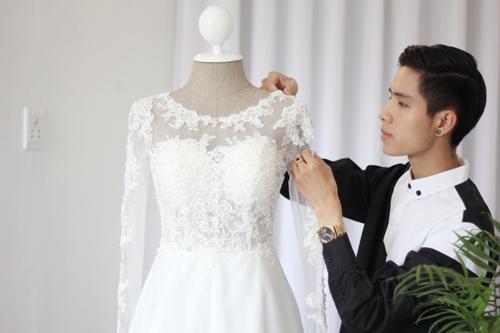 Hai thiết kế váy cưới của Tâm Tít sẽ có tông màu chủ đạo là trắng tinh khiết, gam màu mà cô dâu yêu thích - Tin sao Viet - Tin tuc sao Viet - Scandal sao Viet - Tin tuc cua Sao - Tin cua Sao