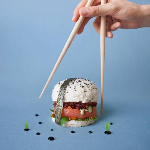 Burger Hộp sushi bí ẩn